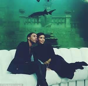 Kim Kardashian takes selfie with Olivier Rousteing at