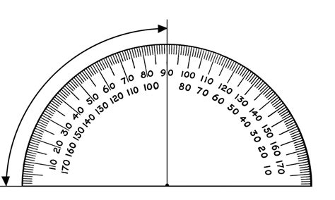 printable protractor small protractor 90 degrees clipart etc