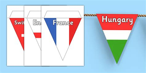 printable flags of the world bunting printable flags of the world bunting t t 26345 euro 2016