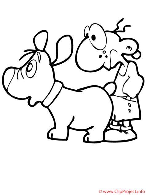 dibujos de niños jugando y peleando malvorlage gratis junge und hund