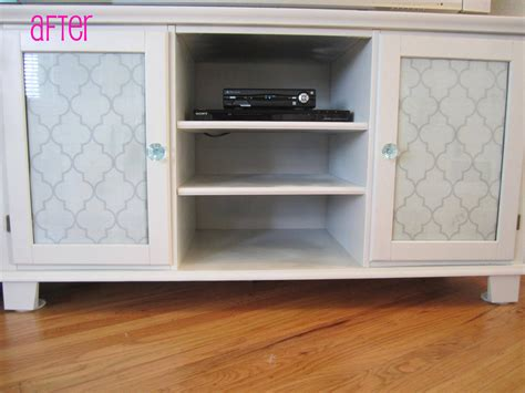 diy media cabinet easy diy spray painted media cabinet trellis design house to home blog