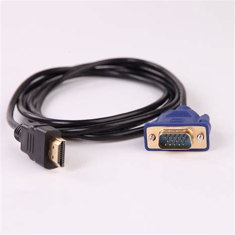 Converter Vga Pin 15 To Vga hd 1080p hdmi to 15 pin vga connector adapter converter cable 1 8m 6ft ebay