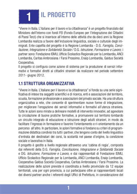 prefettura di perugia ufficio cittadinanza vivere in italia brochure