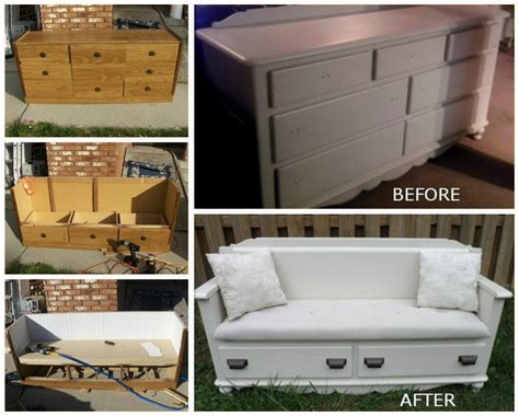 how to make a dresser into a bench how to turn beds into garden bench