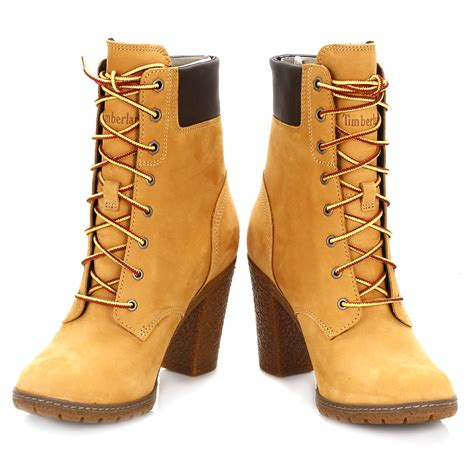 timberland womens ankle boots wheat yellow glancy 6 inch