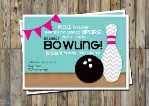 bowling invitation printable pack from pretty ideas bowling