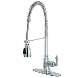 classic kitchen faucets shop kingston brass american classic chrome 1 handle deck mount pre rinse kitchen faucet at