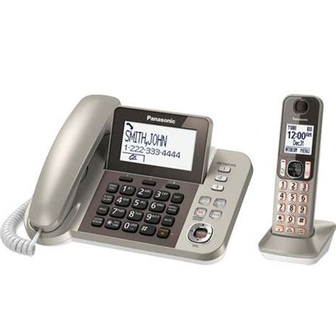 Panasonic Corded Phone Kx Ts820nd panasonic kx tgf350n dect 6 0 plus corded cordless phones system with caller id and digital