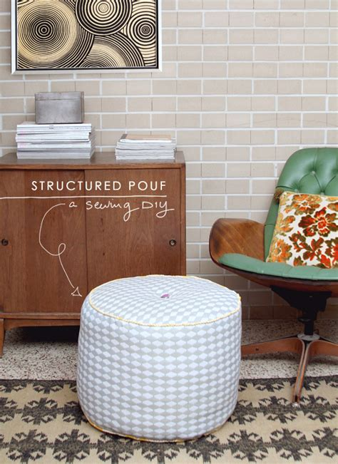 how to make pouf ottoman diy structured pouf ottoman making nice in the midwest