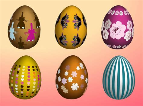 decorated easter eggs decorative easter eggs vector art graphics freevector com
