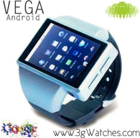 3G Watches Releases VEGA The World's First ANDROID Powered Cell Phone Watch!    www.3gwatches