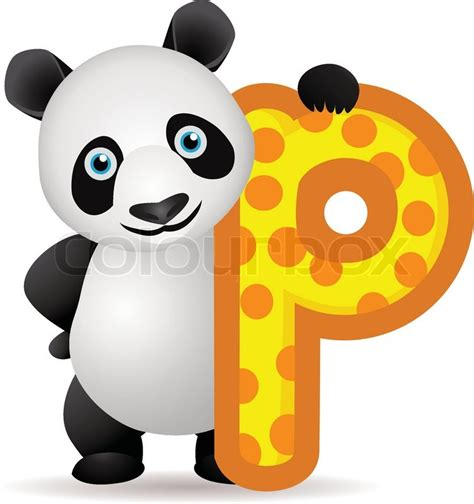 Animal P by Animal Alphabet P With Panda Stock Vector