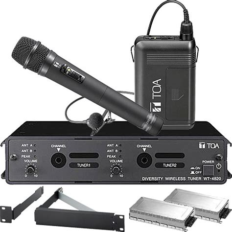 Mic Microphone Toa Ws 300 Clip On toa electronics wt 4820 modular dual channel 4820 heltt3e b h