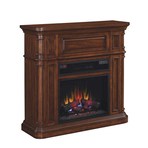 Duraflame Electric Fireplace Shop Duraflame 43 In W 5 200 Btu Premium Pecan Birch Wood Wall Mount Electric Fireplace With