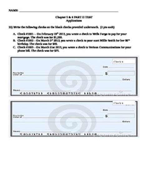 How To Write A Check Worksheet 4 Best Images Of Printable Writing Checks Worksheets