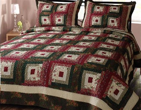 King Cotton Quilt by Decor Ch9035 K Cabin Hearth Geometric Crafted