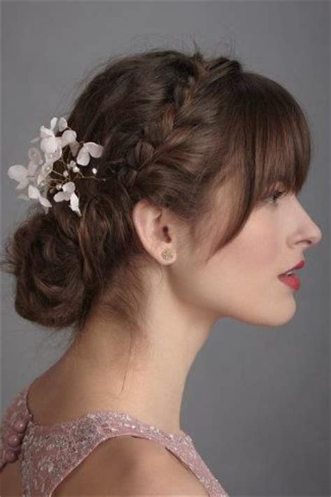 Wedding Hairstyles With Front Bangs by 25 Best Ideas About Wedding Hair Bangs On