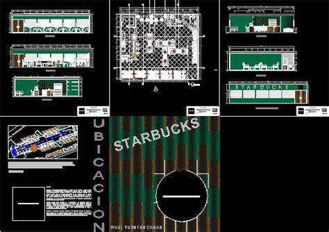 starbucks dwg block  autocad designs cad