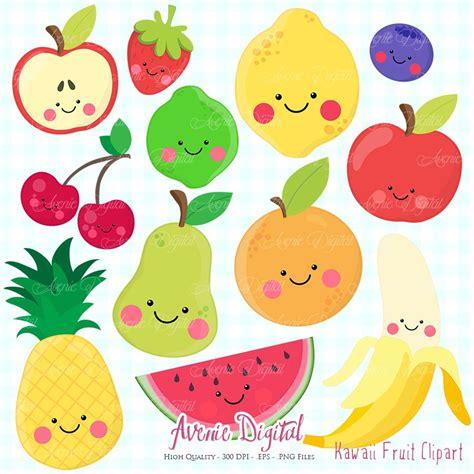 clipart frutta clipart frutta kawaii scrapbook stabile vettoriale eps e