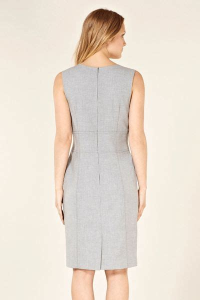 Gray Fold Smlxl Dress 24582 oasis fold front 2 in 1 dress in gray grey lyst