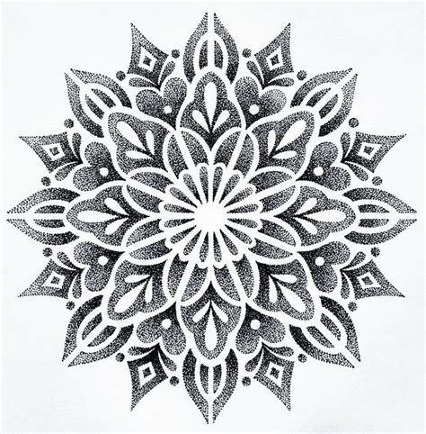 dot pattern drawing beautiful dotwork pattern pinterest mandala tattoo