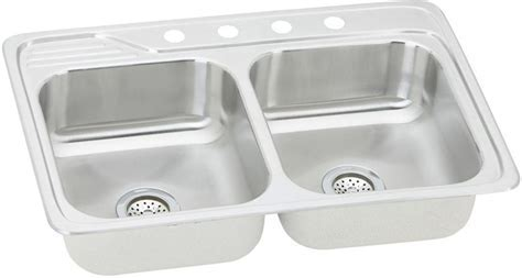 Elkay ECC33221 33 Inch Top Mount Double Bowl Stainless