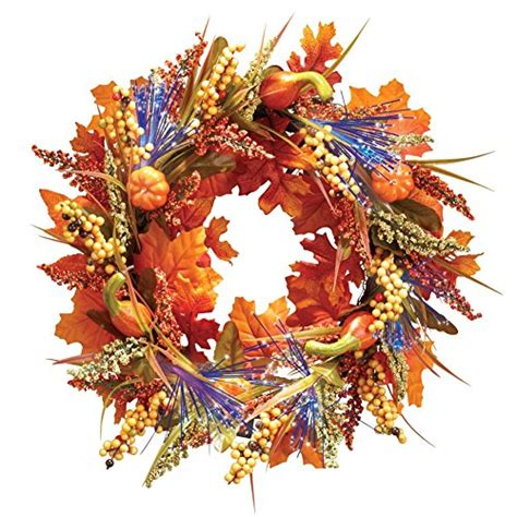 fiber optic garland fiber optic autumn wreath bnc