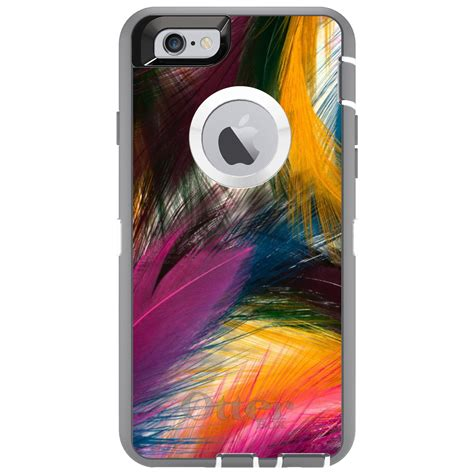 Hair Iphone 6 6s 6 Custom custom otterbox defender for iphone 6 6s 7 plus multi color feathers