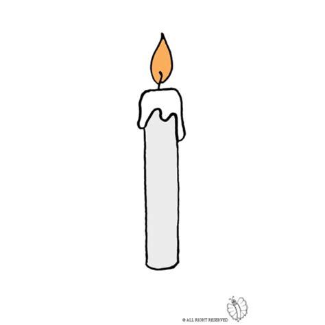 candela disegno disegno di candela accesa a colori per bambini