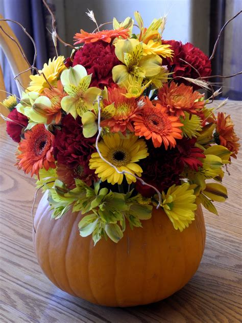 1000 Images About Fall Wedding Ideas On Pinterest Fall Pumpkin With Flowers Centerpieces