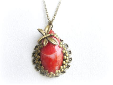 agate jewelry agate pendant necklace vintage style pendant