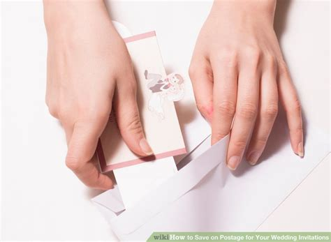 how to save postage for your wedding invitations steps on - How To Save On Postage For Wedding Invitations