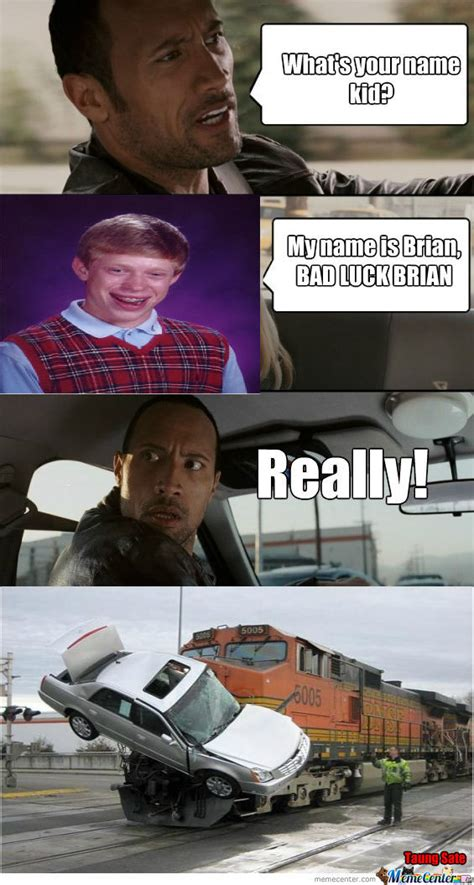 Dwayne Johnson Car Meme - bad luck quot the rock quot by taungsate meme center