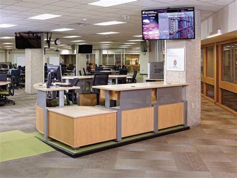 School Library Circulation Desk by Uw Wendt Commons Library Wi Demco Interiors
