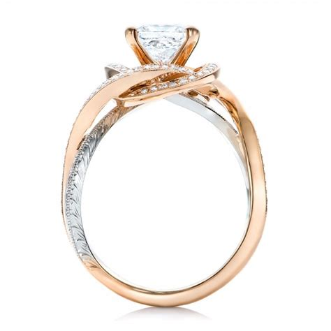 custom gold and platinum engagement ring 101749