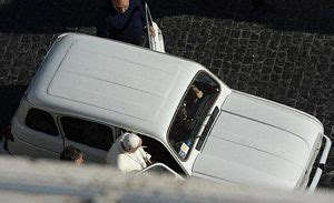 renault 4 pope pope takes renault for spin leaves security in