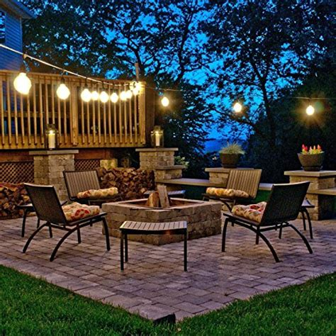 patio lights uk calish 35ft waterproof outdoor string lights heavy duty commercial string lights with 9 pcs e27