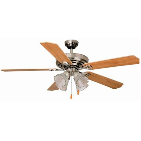 aloha ceiling fan aloha 174 52 quot dual mount brushed nickel ceiling fan