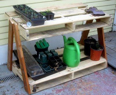 pallet garden work bench lloyd s blog garden work tables from old pallets