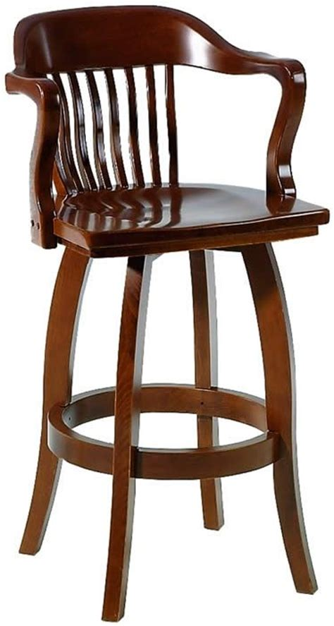 Wooden Bar Stools With Back And Arms Swivel Bar Stools Wooden Bar Stools And Bar Stools On