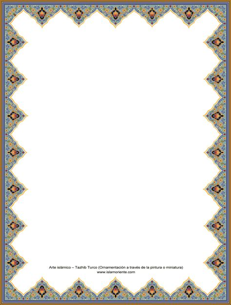 frame design islamic turkish ornamentation through painting and miniature