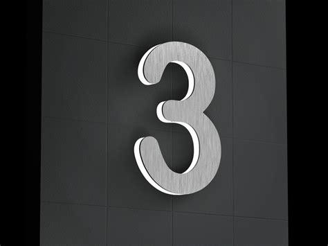 hausnummer mit beleuchtung edelstahl hausnummer beleuchtete led edelstahl hausnummer 3