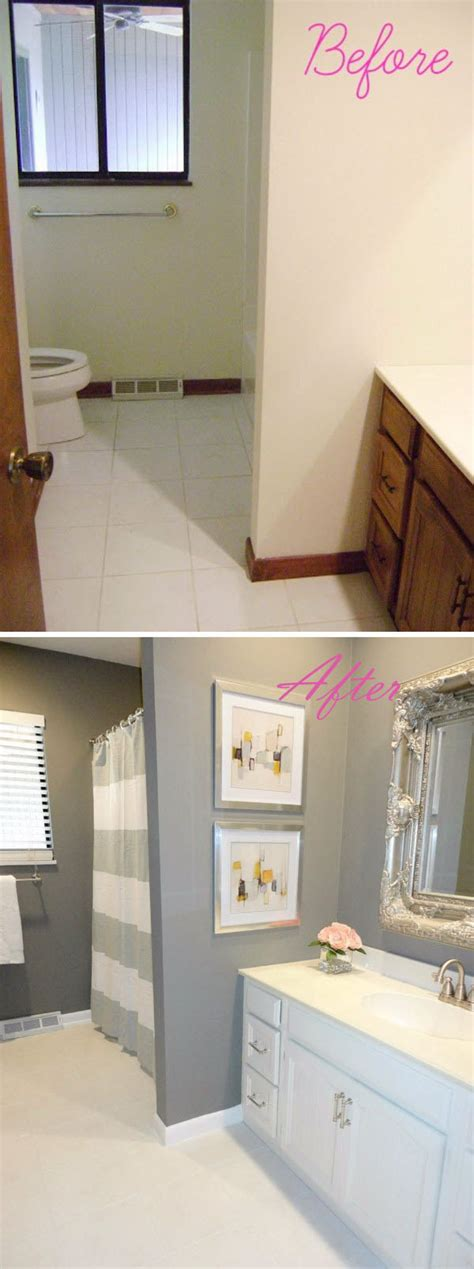 before and after awesome bathroom makeovers hative soooo much better the beautiful tile makes this