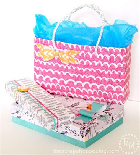 Gift Wrap Paper - diy gift wrap using scrapbook paper the scrap shoppe