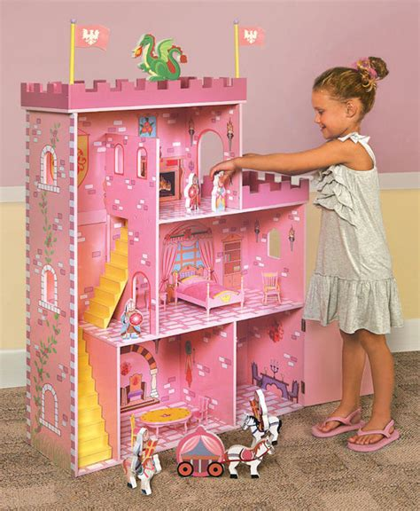 a doll house play fantasy play castle dollhouse with accessories the frog and the princess
