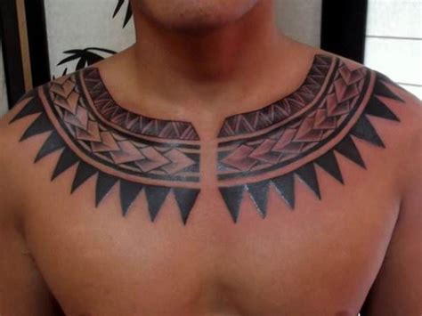 tribal collar bone tattoos necklace tribal maori necklace hawaiian golfian