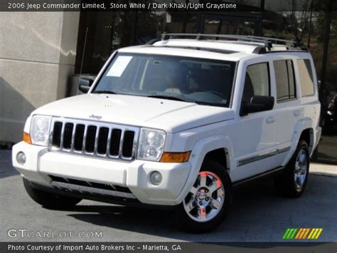 2006 Jeep Commander White White 2006 Jeep Commander Limited Khaki