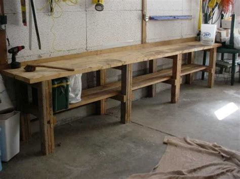 workshop bench garage workbench in minimalist and modern look rustic
