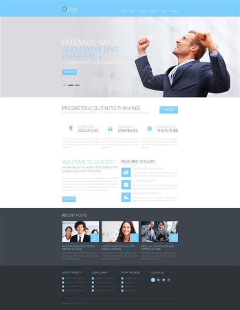 free responsive website templates for advertising agency marketing agency responsive website template 46910