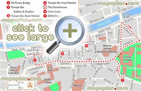 dublin maps top tourist attractions free printable